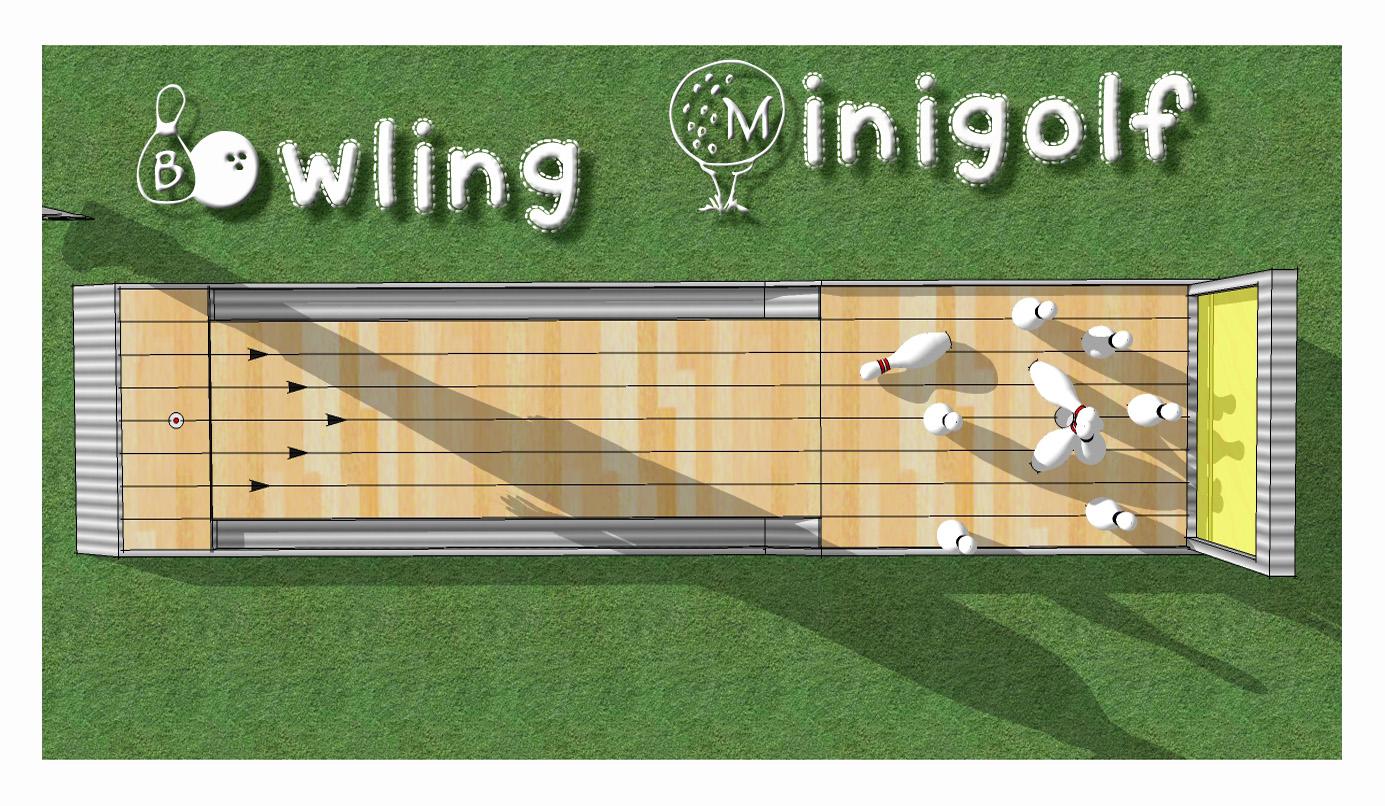 Miniigolfbahn - Beispiele - Bowling Minigolf - Minigolfbahn- Wir ...